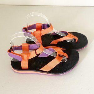Teva Orange Purple Strappy Velcro Outdoor Sandals